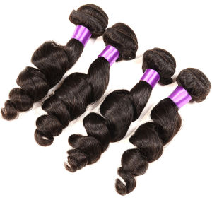 Bhf Peruvian Virgin Hair Loose Wave 4 Bundles Peruvian Weave Hair UK Peruvian Loose Curly Virgin Hair 7A 100% Human Hair Weaving pictures & photos