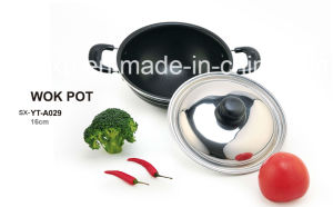 Alloy Aluminium Coated Non-Stick Wok Soup for Cookware Sets Sx-Yt-A029