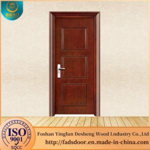 China Desheng Waterproof Wood Bathroom Door Designs For Houses