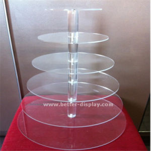 Custom Acrylic 3 Tires Cake Pop Stand pictures & photos