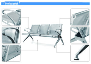 China Steel 3 Seater Waiting Seat With