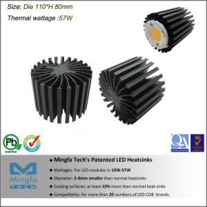 Aluminum Extrusion Heat Sink for Spotlight and Downlight (Dia: 110mm H: 80mm)