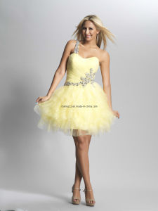 One Shoulder Young Girl Prom Cocktail Dress