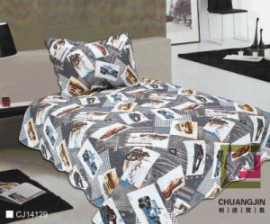 Printed Quilt Pigment Printing Children Bedding Set