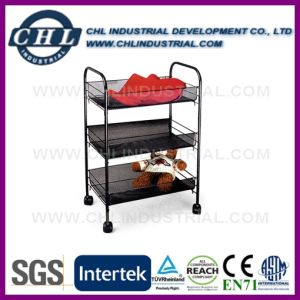 Promotional Printing Personalized Round Black Metal Mesh Shoe Rack pictures & photos