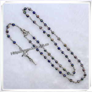 Wood Rosary, Glass Rosary, Pearl Rosary, Alloy Metal Rosary, Hematite Rosary, Plastic Blue Beads Rosary (IO-cr046) pictures & photos