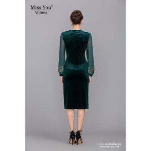 Miss You Ailinna 305446 Fashion Customized Long Sleeve One-Piece Dress pictures & photos