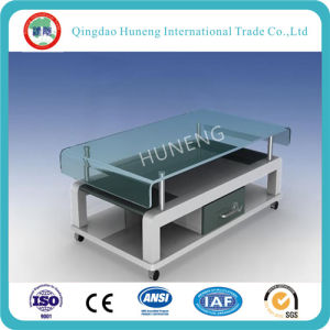 China Clear Table Bent Tempered Glass with CCC ISO