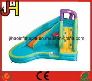 Slide Combo Mini Inflatable Curve Water With Swimming Pool