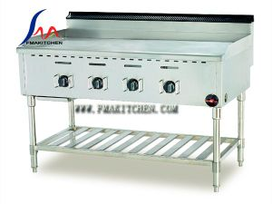 Gas Griddle (smooth top) with Under Shelf pictures & photos