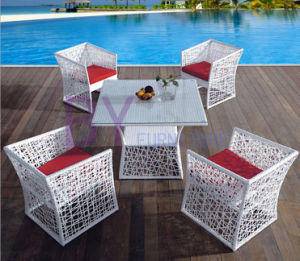 PE Rattan Table and Chair Set Dining Furniture