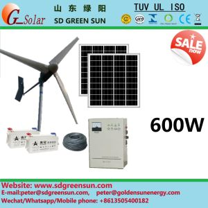 600W Hybrid Wind Turbine for Home Use pictures & photos