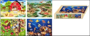 Wooden Jigsaw Puzzle 4 in 1 Puzzle Box pictures & photos
