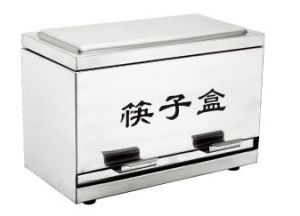 Stainless Steel Semi-Auto Chopstick Dispenser for Hotel Buffet and Restaurant pictures & photos