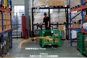 2ton Competitive Price Side Stand Type Electric Pallet Truck with Charger pictures & photos