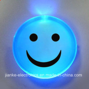 Blue LED Lighting Smile Face Badges with Customized Design (3569)
