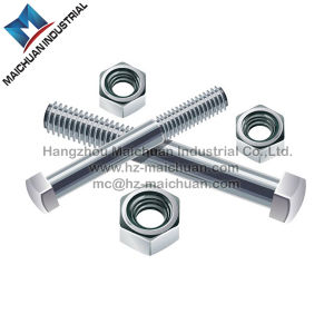 Carbon Steel Hex Bolts & Nuts Zinc Plated Hot Galvanized Hex Nut and Bolt (DIN933 AND DIN934)