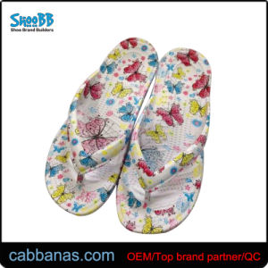 e73c44f36 China Injection EVA Beach Flip Flops Slippers with Floral Printing ...