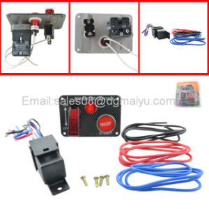 12V Racing Car Ignition Switch Starter Switch Carbon Panel Toggle Engine Start Push Button+Relay pictures & photos