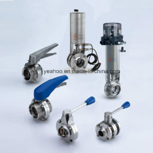 Sanitary Butterfly Valve Stainless Steel Manual Pneumatic
