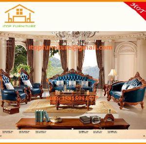 Incredible China Italian Furniture Luxury Wood Carved Leather Blue Sofa Inzonedesignstudio Interior Chair Design Inzonedesignstudiocom
