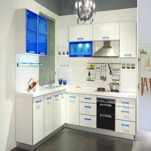 Glossy Wood Kitchen Cabinet (ZH-022) pictures & photos