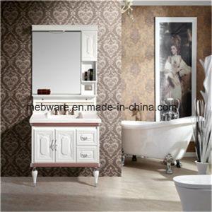 China Modern Floor Resin Marble Countertop Bathroom Cabinet