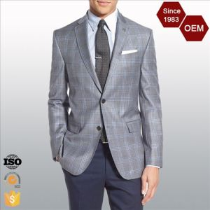 Latest Blazer Design   China Oem Latest Design Men S Trim Fit Business Checked Blazer Suit