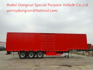 High Quality Dongrun Brand Cargo Van Semi Trailer for Sale