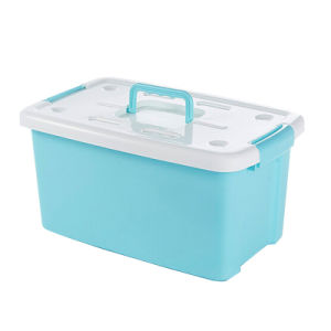 China Plastic Storage Box Container with Handle for Storage SLSN015