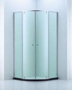 Built-in Space Sector Shape Shower Enclosure/Shower Cubicle (A-CVP048)