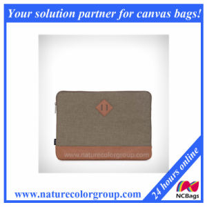 Polyester Laptop Sleeve Bag-Khaki