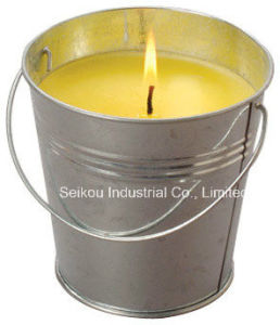 Color Painted Citronella Bucket Candle for Anti-Mosquitoes (SK8077)
