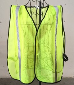 Reflective Safety Vest, Made of 100% Polyester Mesh Fabric pictures & photos