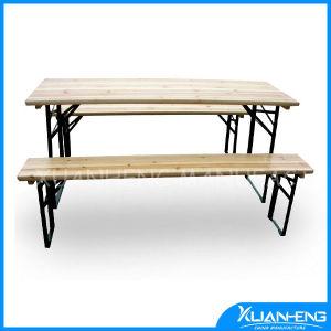 木のFoldableピクニック用のテーブルセット