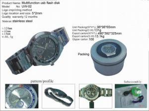 多機能USBのフラッシュの腕時計(UW-02)