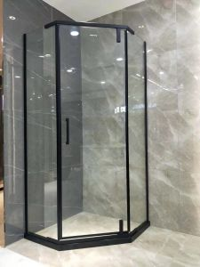 Revestimento preto Hardwares Forma de losango Gabinete Chuveiro