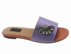 Women's Satin Classic large monter la diapositive Flip Flop Pantoufles Chaussures