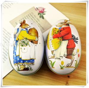 De rode en Blauwe Peter Rabbit Fashion Wedding Supplies Doos van het Tin van het Huwelijk van de Gift van het Paasei van de Doos van het Suikergoed Verpakkende Creatieve