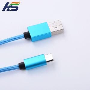 Высококачественный нейлон и заряжать мобильный телефон Micro USB-кабель для телефона Samsung