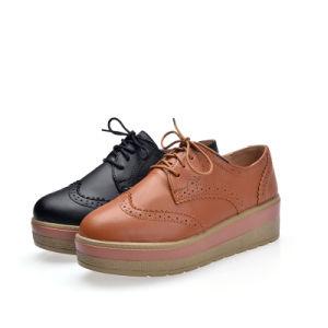 新式の女性の革靴のプラットホームの靴(FYS7908-4)