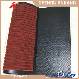 Stuoia di portello costolata rossa antisdrucciolevole del fornitore della Cina doppia