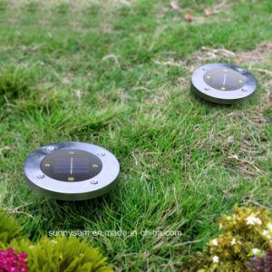 4 LED-Solarheller im Freientiefbaugarten-begrabenes Solarlicht für Yard-Quadrat-Landschaftspfad