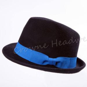 Guarnição de feltro Widebrim Fedora Hat Tampas de Lazer