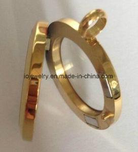 Vidro Redonda magnético Locket jóias de Aço Inoxidável