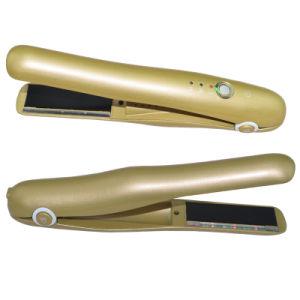 Funciona con pilas utiliza el teléfono móvil inalámbrico de cerámica planchas planas con indicador LED