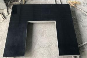 China polidas lareira em granito preto nacarado