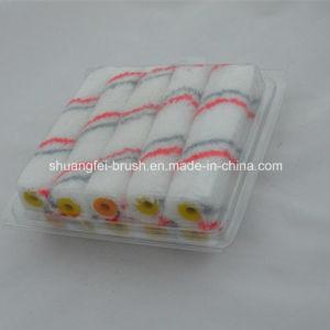 Mini rodillo de pintura acrílica (rojo y gris blanco de la banda base)