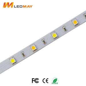 Flexible SMD 5050 circuito doble ajustable de tiras de LED blanco.