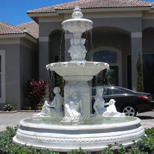 De hete Verkopende Steen sneed de OpenluchtFontein van het Water van de Decoratie Marmeren